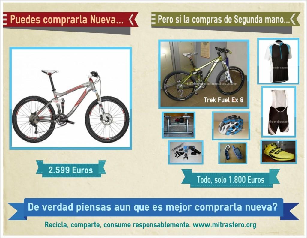 bicicleta nueva o de segunda mano